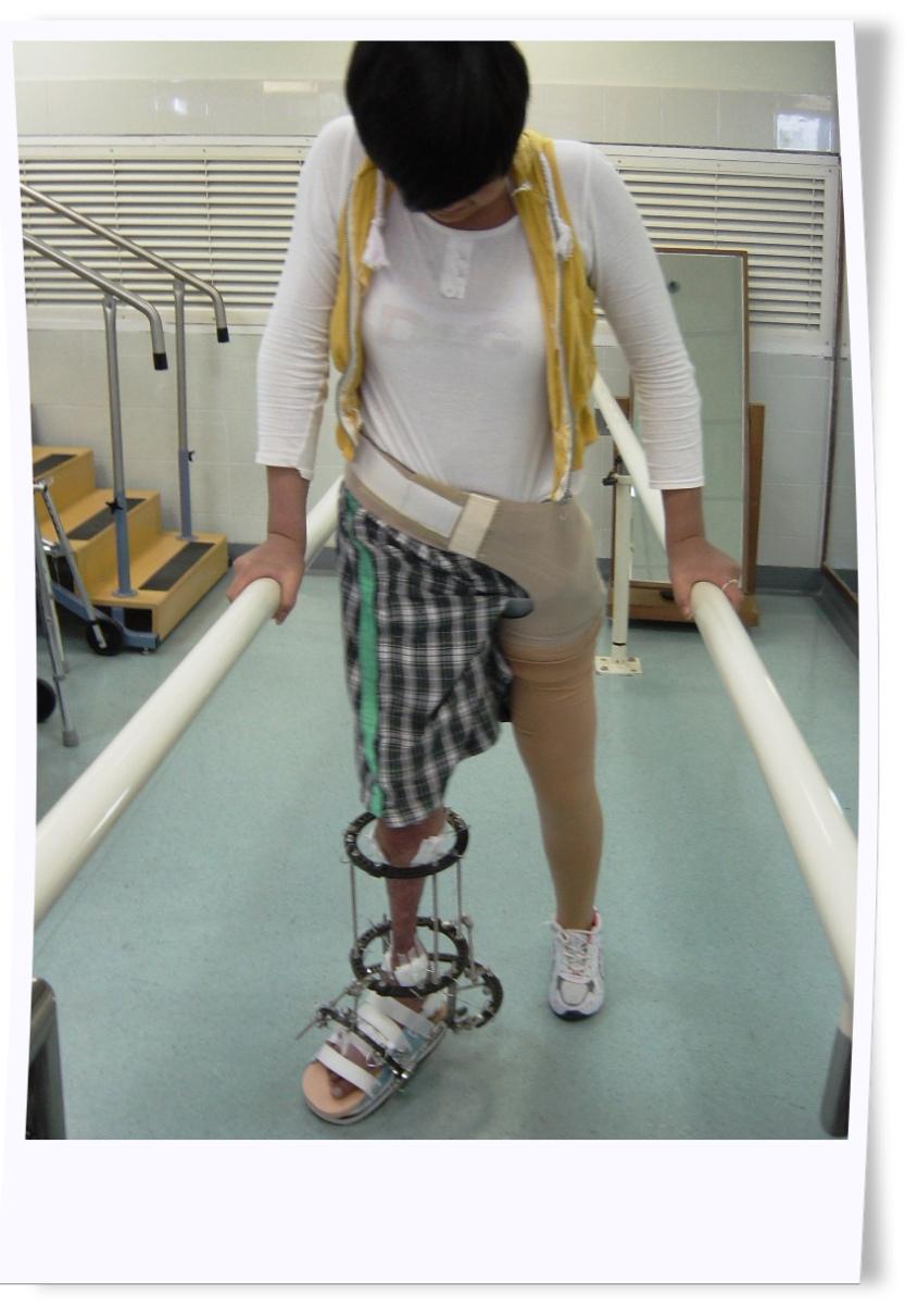 She practised walking
