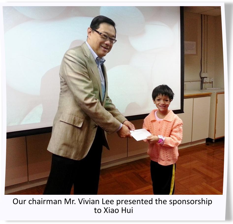 sponsorship to Xiao Hui